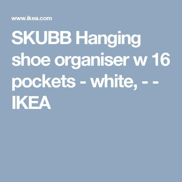 SKUBB Hanging shoe organiser w 16 pockets - white, - - IKEA