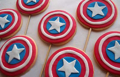 Capitan América galletas