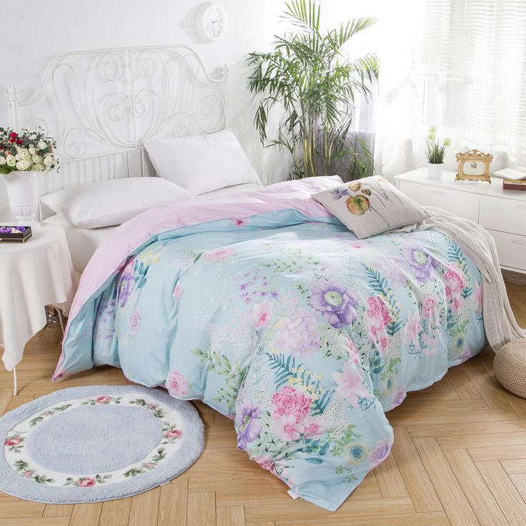 Luxury Colorful Flowers Duvet Cover 1pcs 100% Cotton Quilt Cover for Home Bedclothes Twin Full Queen King Size High Quality