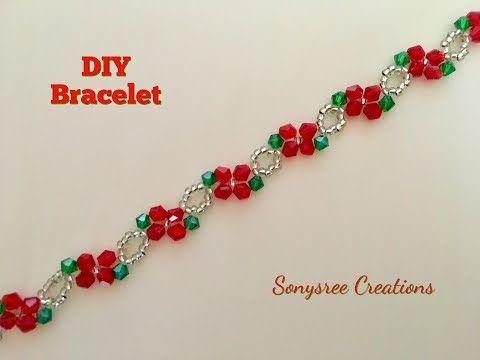 Simple and quick tutorial for a beautiful classic bracelet. Perfect for Christmas present - YouTube