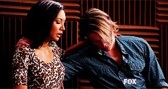 This was, for me, one of the worst moments during the Quaterback- that is not Sam breaking down but quite clearly Chord :'(<3