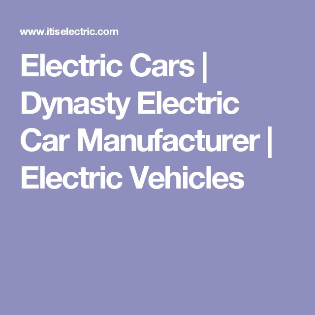 Electric Cars | Dynasty Electric Car Manufacturer | Electric Vehicles