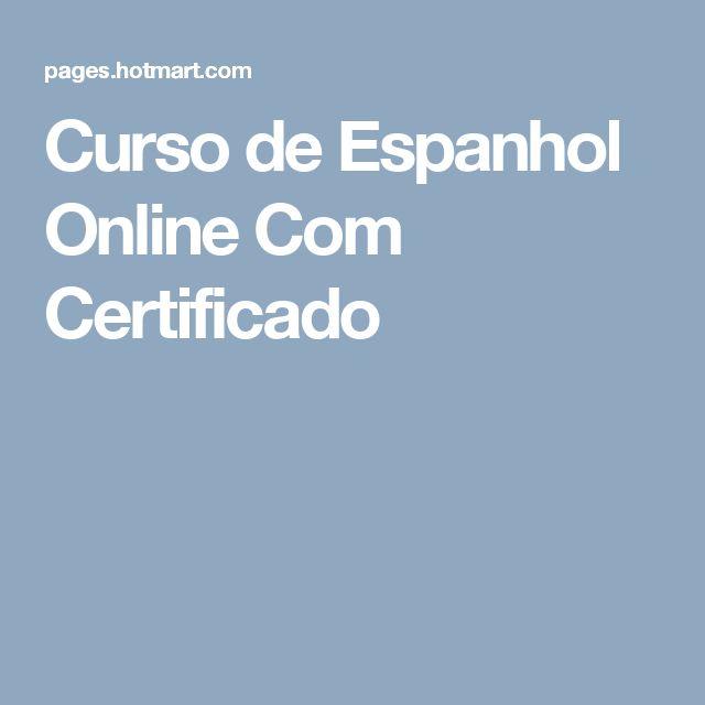 Curso de Espanhol Online Com Certificado