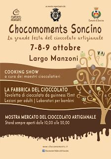 ChocoMoments: la Grande Festa del Cioccolato 7-8-9 ottobre Soncino (CR)