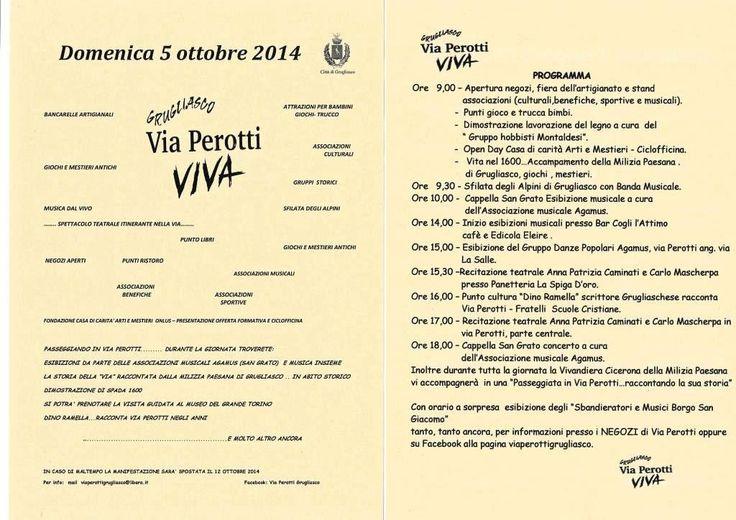 A Grugliasco, la festa Via Perotti VIVA http://isa-voi.blogspot.it/2014/10/a-grugliasco-via-perotti-viva.html