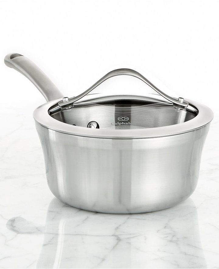 Calphalon Contemporary Stainless Steel 1.5 Qt. Covered Saucepan - $89.99