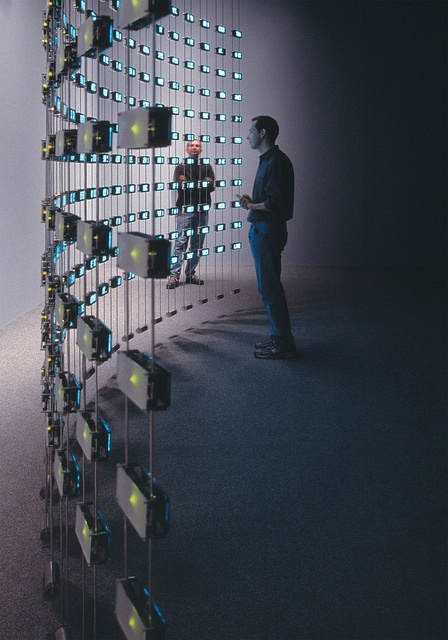 "Mark Hansen and Ben Rubin, ""Listening Post""; (2001-2003) at the Whitney Museum in 2003"