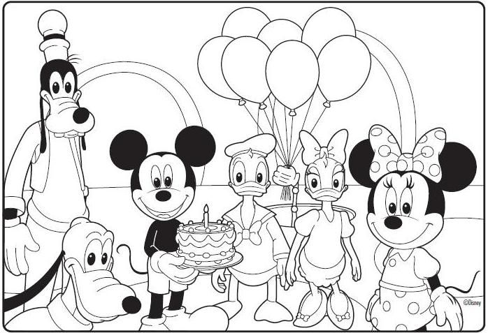 Mickey mouse clubhouse birthday coloring page birthday for Mickey clubhouse coloring pages