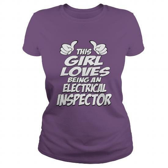 Being An Electrical Inspector T Shirts, Hoodies. Get it here ==► https://www.sunfrog.com/Jobs/Being-An-Electrical-Inspector-Shirt-Purple-Ladies.html?41382