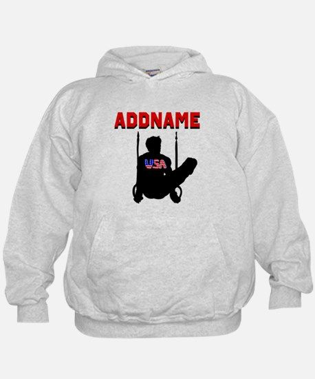 AMERICAN GYMNAST Hoodie Inspire every male Gymnast with our bestselling Gymnastics Tees and Gifts. https://www.cafepress.com/sportsstar/10405235  #Gymnastics #Gymnast #MensGymnastics #BoysGymnastics #Gymnastboy