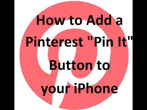 How to add a the Pinterest Pin It button to your iPhone | 123 my IT