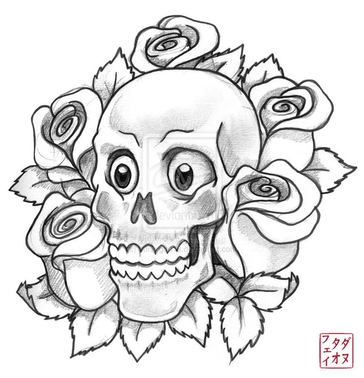 best skull and roses tattoo sketch images on pinterest