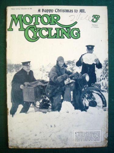 Christmas Motor Cycling Magazine 25 Dec 1935 T T History A J s Junior Win | eBay