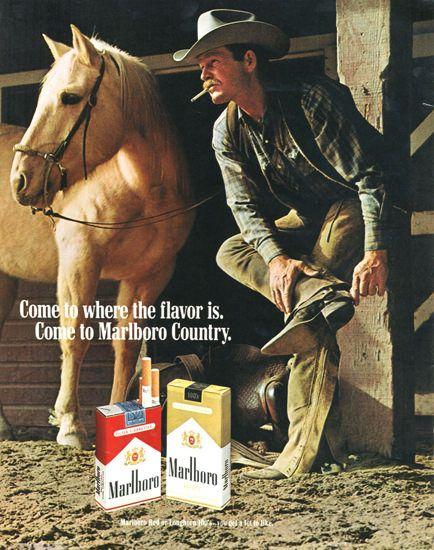Marlboro Cigarettes Marlboro Man 1970 Spurs - Mad Men Art: The 1891-1970 Vintage Advertisement Art Collection
