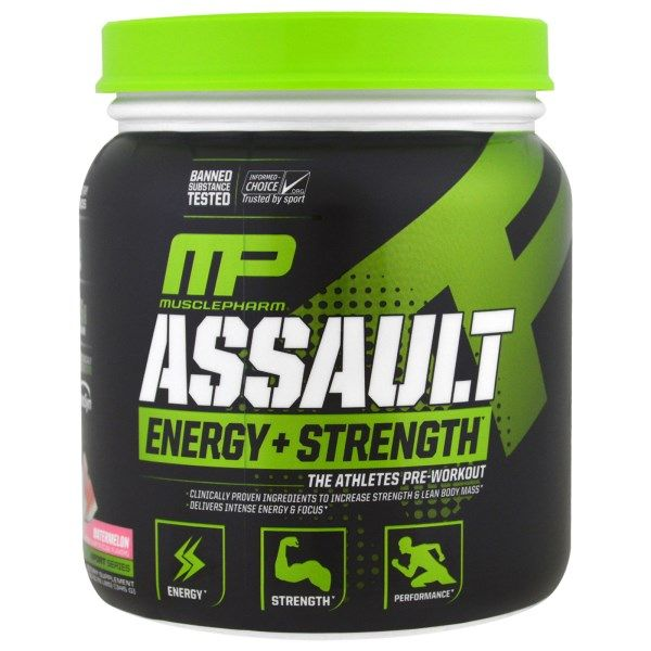 Muscle Pharm, Assault Energy + Strength, Pre-Workout, Watermelon, 12.17 oz (345 g)