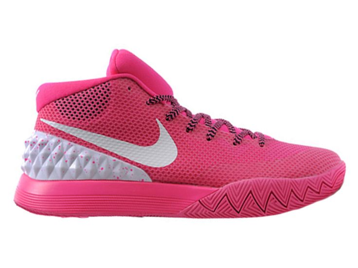 15fa6f32ef5 ... Nike Kyrie(Kyrie Irving) Chaussures de Basketball Nike Officiel Pour  Homme Rose - Blanc ...