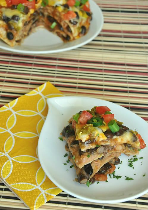 Mexican Pizza Lasagna - this is delicious!  Everyone wanted seconds and I hadn't made enough!