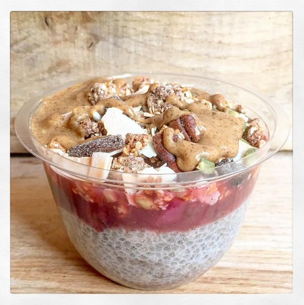 This chia pudding from the Mae Deli is so yum!