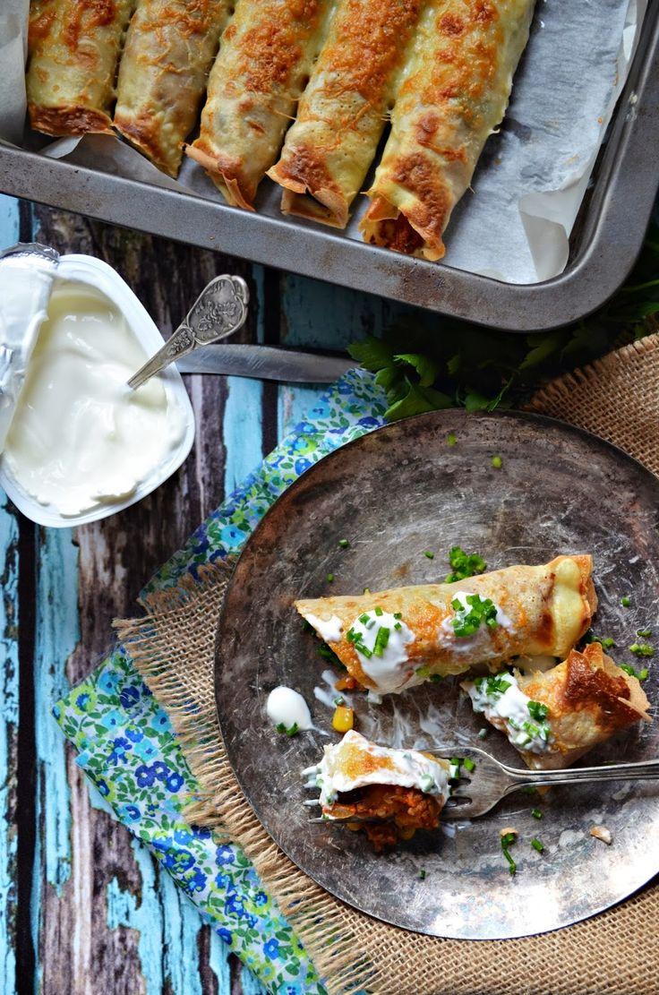 Naleśniki meksykańskie (zapiekane) | Kuchnia w zieleni