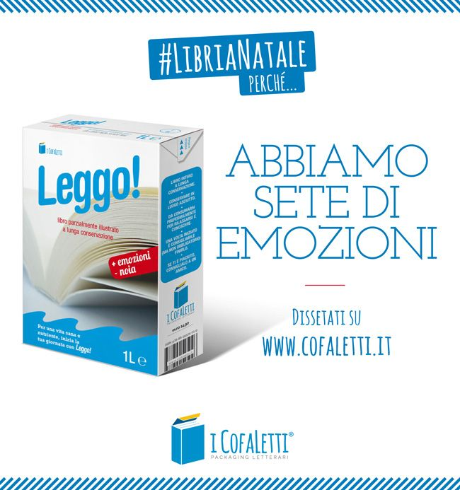 #LibriaNatale perché... Abbiamo sete di emozioni. Dissetati su www.cofaletti.it