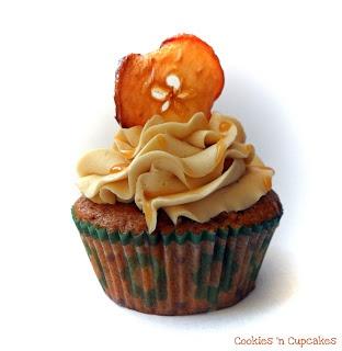 Appel Chocolade Karamel Fudge Cupcakes