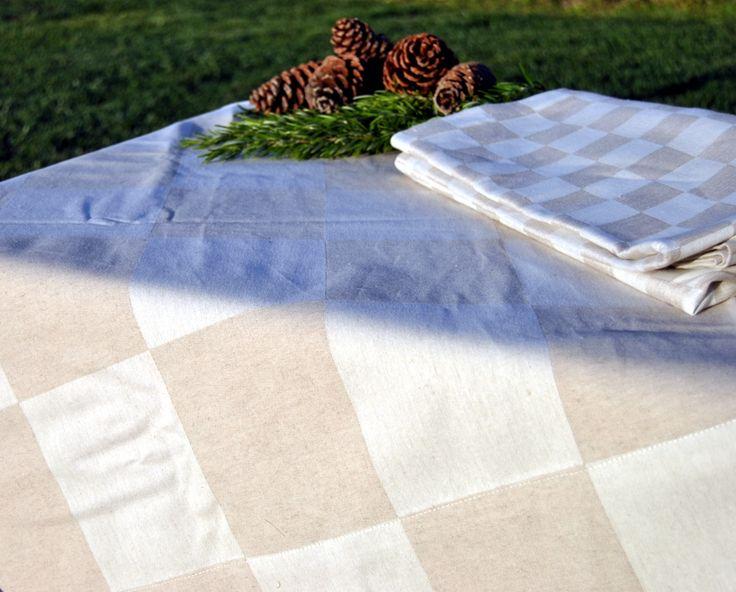 Manteles en lino-algodón