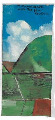 a landscape with too few lovers - from Northland Panels by Colin McCahon