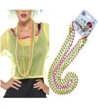 Pack de 4 Collares Fosforitos estilo Años 80. Set de cuatro collares en colores Neones: Verde, Rosa, Amarillo y Naranja para combinar con nuestros disfraces de los años 80, Divas, cantantes o estrellas del Pop, Rock y Punk.