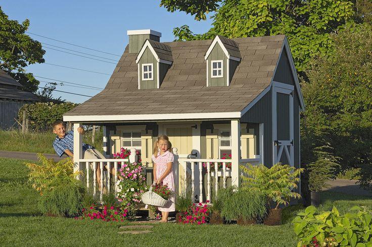 Pennfield Cottage, houten speelhuis met veranda   Royal Toys   Speelhuisjes, Skelters en Trampolines