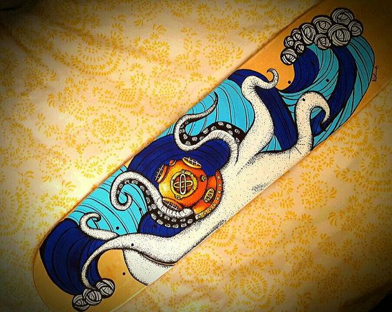Custom Hand Painted Skateboard Custom Skateboard