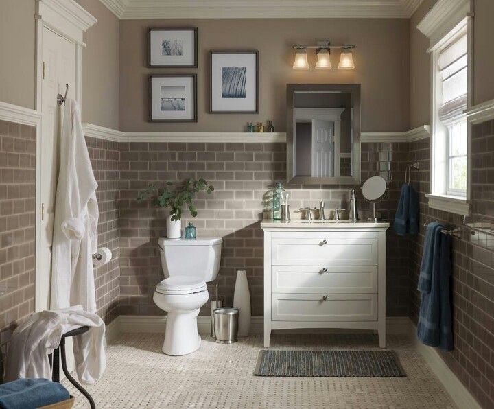 love love love the brownish warm grey pallette and the subway tile albeit glass subway tile would be expensive would this work with a ceramic warm grey