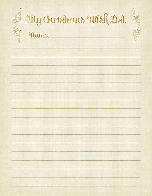 Printable Christmas Wish Lists