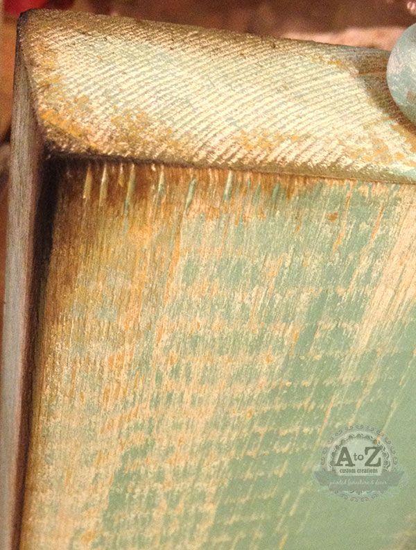best Paint techniques - Age  distress wood  on Pinterest