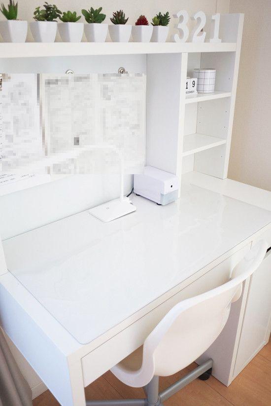 学習机の掃除|Y.Life Style マットはニトリの商品で、新しく買い直しました。