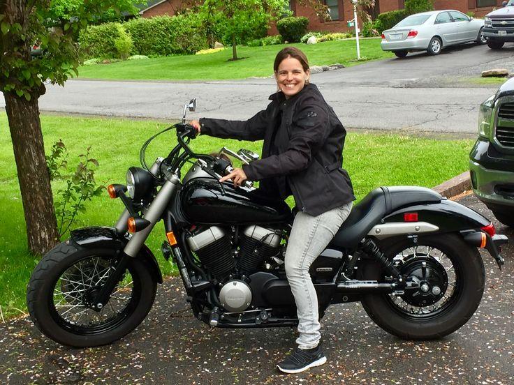 Me on my new wheels (2010 Honda Shadow Phantom).