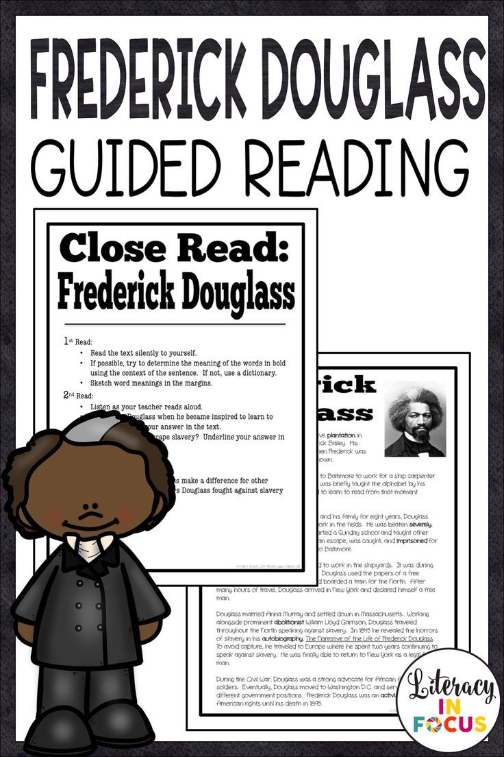 This Common Core Aligned Close Reading Activity Focuses On The Life Of Frederick Douglass Studen Text Based Questions Close Reading Upper Elementary Resources [ 1104 x 736 Pixel ]