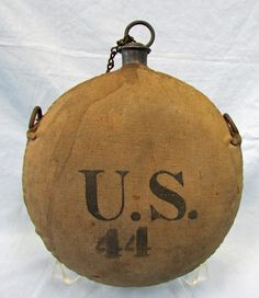 Blood stained civil war canteen