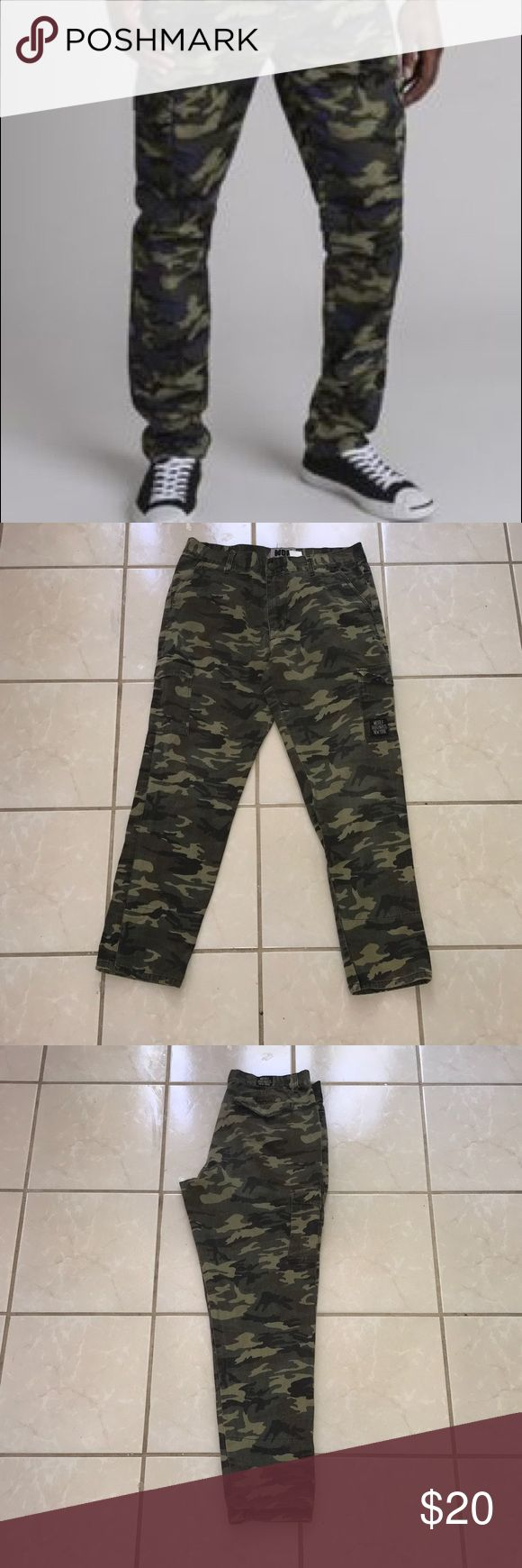 Woolf Originals NY Camo Jeans MENS Camouflage Khaki Jeans Jeans Slim Straight