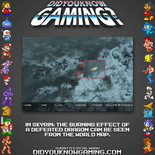 Did you know this? The Elder Scrolls V: Skyrim via didyouknowgaming. omg now i have to confirm this for myself next time i play skyrim
