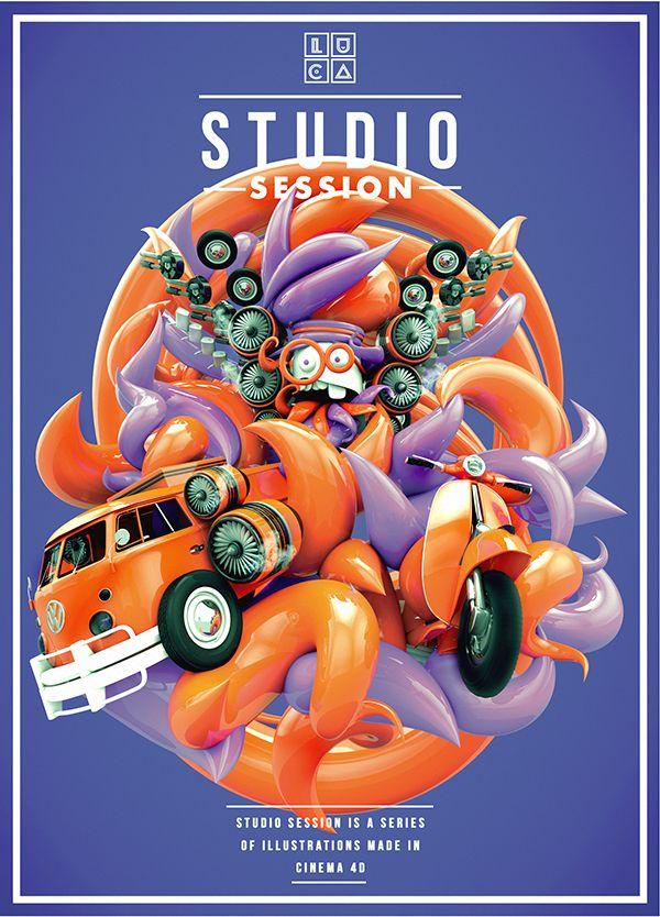 Studio session 2, a series of illustration made in cinema 4d #cinema 4d