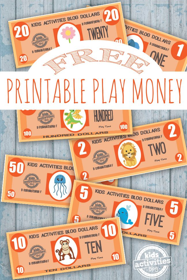 What could be a more fun way to learn about numbers and value of money than with this printable play money?