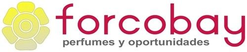 Nuevo logo 2016 de la marca FORCOBAY, dedicada a la venta de perfumes de equivalencia y artículos de oportunidad.