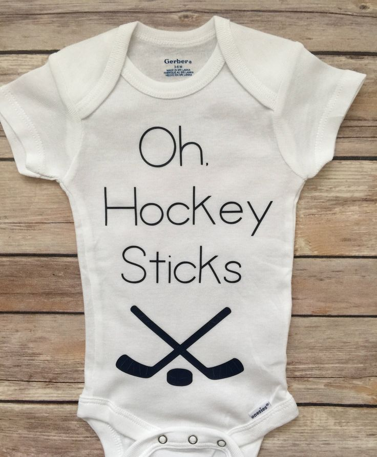 A personal favorite from my Etsy shop https://www.etsy.com/listing/513699208/hockey-baby-boy-outfit-newborn-onesie