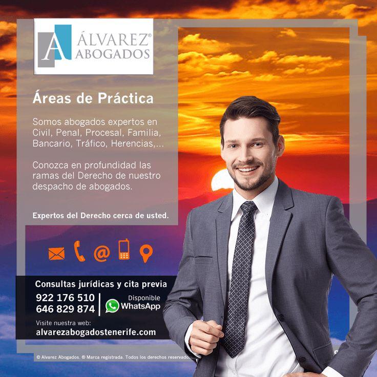 En Alvarez Abogados Tenerife somos abogados expertos en derecho civil, penal, procesal, bancario, familia, tráfico, herencias, juicios rápidos, seguridad vial, contratos, desahucios, reclamación deudas, divorcios, convenio regulador, … Conozca las Áreas del Derecho de nuestros abogados. Asesoramiento y defensa jurídica en Tenerife. https://alvarezabogadostenerife.com/?p=5432