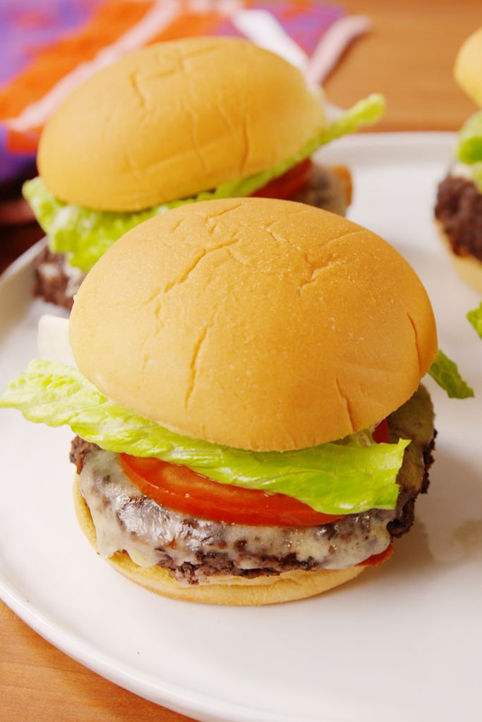 Unleash your inner herbivore with this hearty veggie burger.
