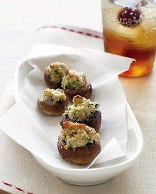 Goat-Cheese Stuffed Mushrooms - Martha Stewart Recipes