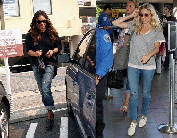 what to wear with oxford shoes | Rosaria Dawson Sienna Miller Oxford Flats Celebrity