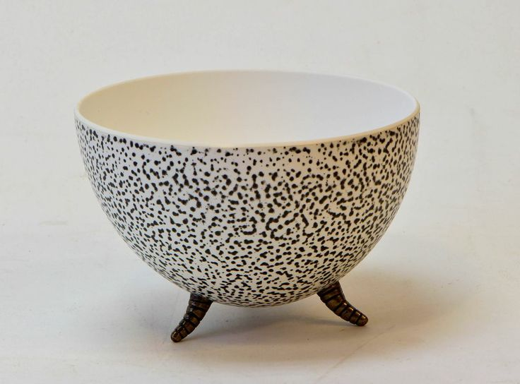 BU-7CS Charcoal Speckled UP-Right bowl