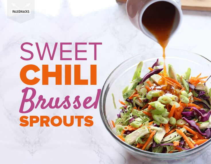 This raw, crunchy salad is super addicting, thanks to a sweet homemade chili vinaigrette!