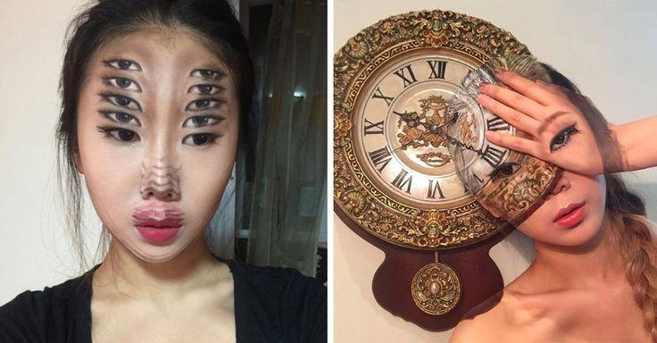 Ella es Dain Yoon, tiene 22 años de edad y es toda una genio de la ilusión óptica. Usa body paint, acrílicos y cosméticos para crear verdaderas obras de arte